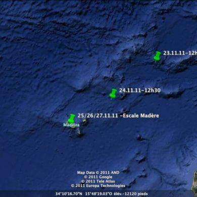 Croisière Guadeloupe coordonnées GPS