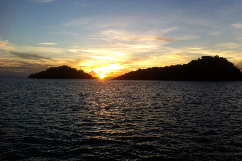 croisière Guadeloupe couché de soleil