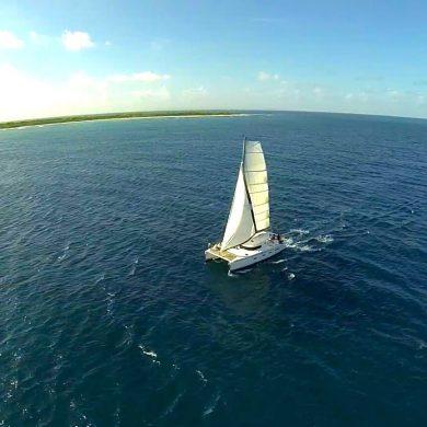 Croisière Guadeloupe vue d'un drone